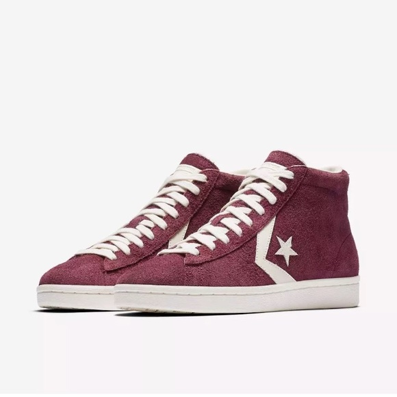 uk availability 1f3e6 a6571 Converse Pro Leather Mid Dark Sangria 🎈Sale🎈